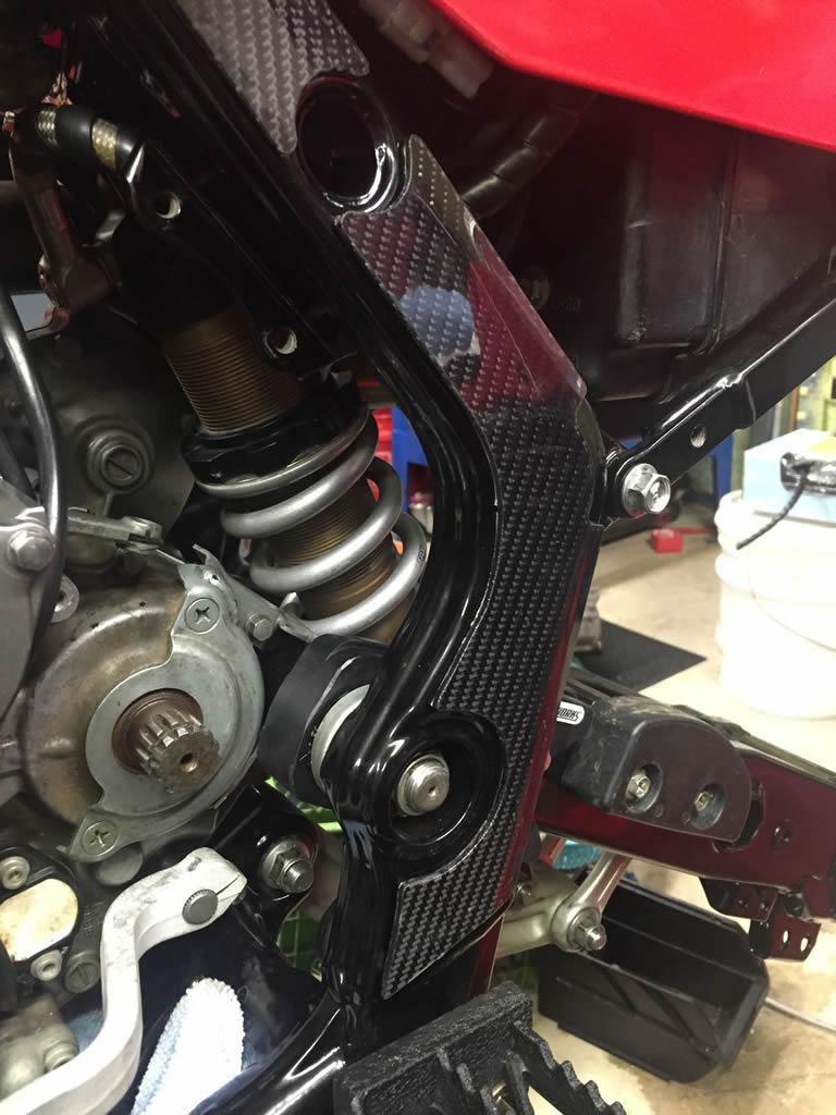 Suzuki LTR 450 Carbon Fiber Frame Scuff Guards